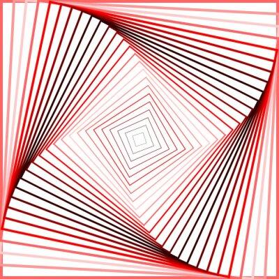Adesivo Design colorful twirl movement illusion background