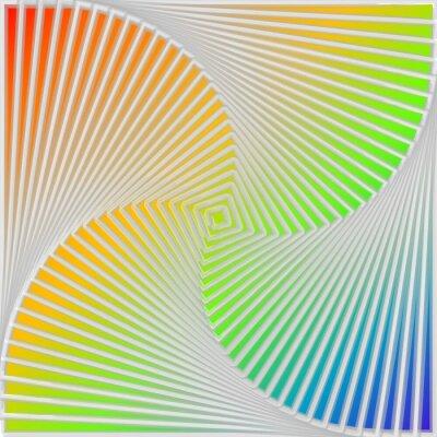 Adesivo Design multicolor turbinio movimento illusione di fondo