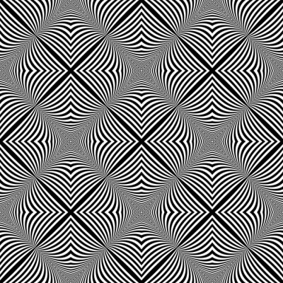 Adesivo Design seamless monochrome illusion background