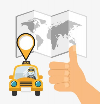 Adesivo Design servizio taxi