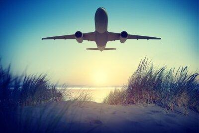 Adesivo Destinazione Aereo Viaggi esterna Togliere Concetto