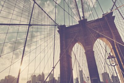 Adesivo dettaglio strutturale del ponte di Brooklyn