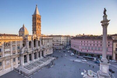 Adesivo Di Santa Maria Maggiore Piazza a Roma, Italia.