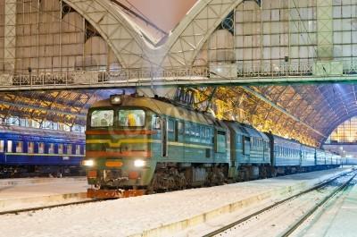Adesivo Diesel treno passeggeri a Lviv, Ucraina