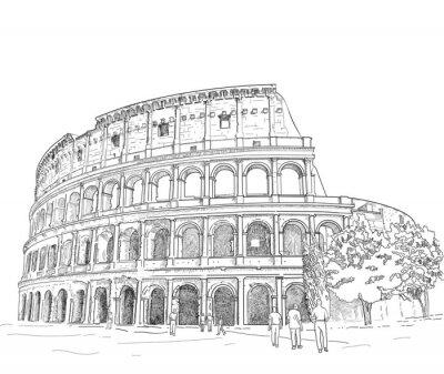 Adesivo Disegno Colosseo