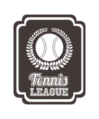 Adesivo disegno di tennis campionato