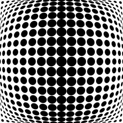 Adesivo Disegno puntini in bianco e nero di sfondo