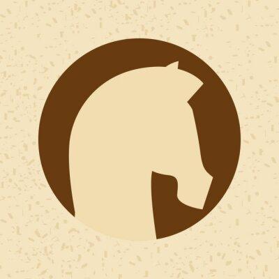 Adesivo disegno silhouette cavallo