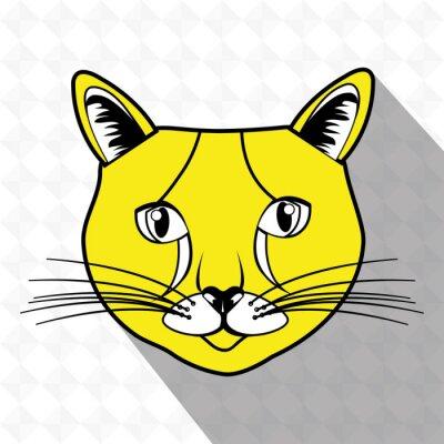 Adesivo disegno simpatico gatto
