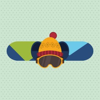 Adesivo disegno sport invernali