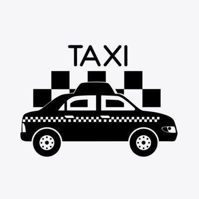Adesivo Disegno taxi.