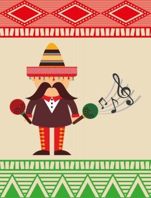 Adesivo disegno Viva Mexico