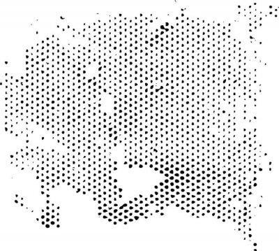Adesivo Dissipando degenerazione pattern mezzetinte texture. Vector grunge texture sovrapposizione.