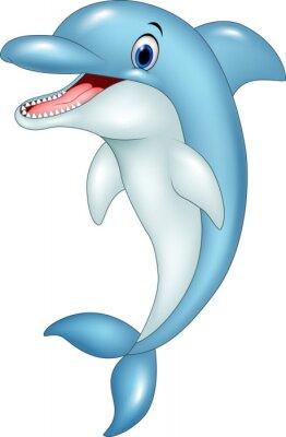 Adesivo Divertente cartone animato delfino salta