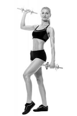 Adesivo Donna di sollevamento pesi a mano sexy e in forma