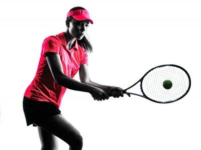 Adesivo donna giocatore di tennis tristezza sagoma