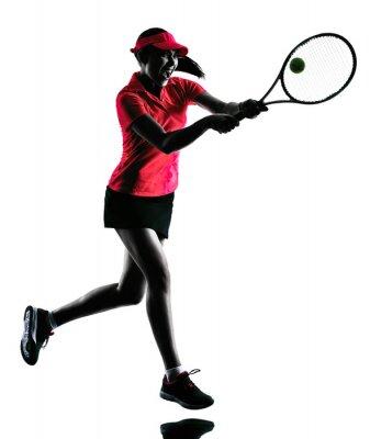Adesivo donna tennista sagoma tristezza