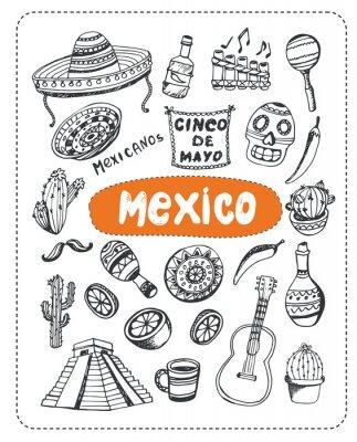 Adesivo Doodle sul Messico.