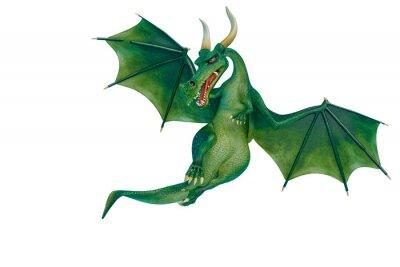 Adesivo dragon cartoon is watchingn