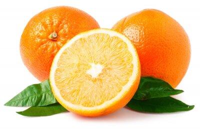 Adesivo Due arance isolato su bianco