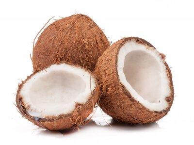 Adesivo Due di cocco uno dei quali suddiviso isolato