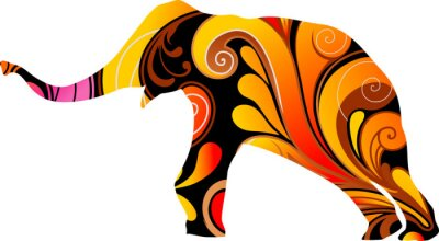 Adesivo Elefante Decorative