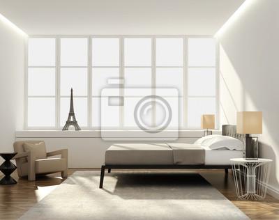 Adesivo: Elegante camera da letto di lusso moderno