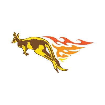 Adesivo Elegante Kangaroo Flame