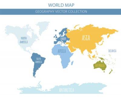 Adesivo Elementi della mappa del mondo. Crea la tua raccolta grafica di informazioni geografiche