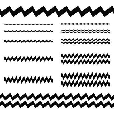 Adesivo Elementi di progettazione grafica - asimmetrica linea set