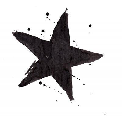 Adesivo Elemento di design. Vintage grunge Retro stella.