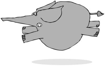 Adesivo Elephant Running Scared