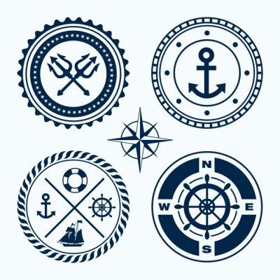 Adesivo Emblemi nautici