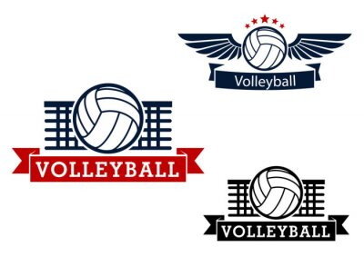 Adesivo Emblemi pallavolo con elementi di gioco