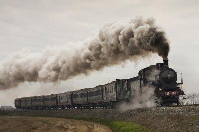 Adesivo epoca treno a vapore nero