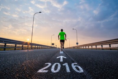Adesivo Eseguire durante il nuovo anno 2016