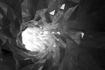 Adesivo Estratto cristallo brillante nero tunnel digitale 3d