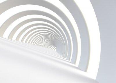 Adesivo Estratto futuristico tunnel in uno stile contemporaneo