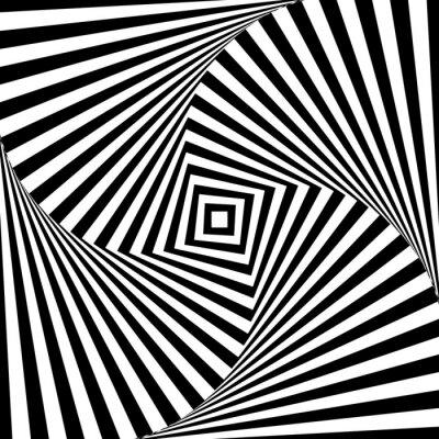 Adesivo Estratto illusione ottica di vettore in bianco e nero