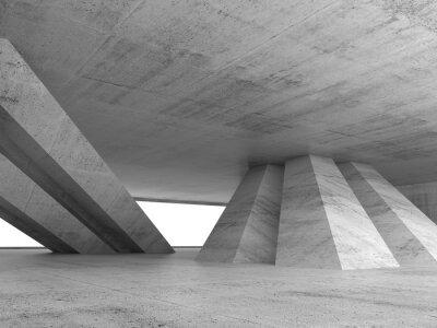 Adesivo Estratto interno di cemento vuoto 3d rendering