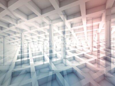 Adesivo Estratto intersecato strutture cellulari, illustrazione 3d