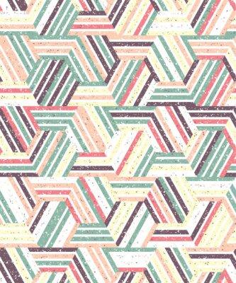 Adesivo Estratto seamless di una pluralità di triangoli e strisce. sfondo con texture.