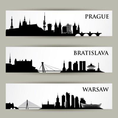 Adesivo Europa Centrale città skylines