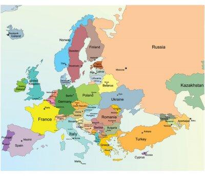 Adesivo Europea Mappa.