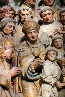Adesivo Famosa scultura raffigurante la vita di San Firmin, un famoso santo che morì ad Amiens, nella Cattedrale di Nostra Signora di Amiens, in Francia, il 9 febbraio 2013. La scultura, che ha creato nel 16