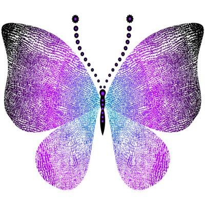 Adesivo Fantasy grungy farfalla d'epoca