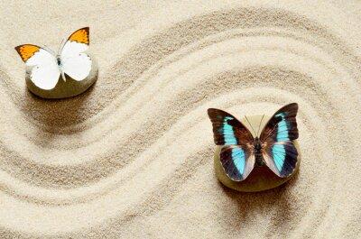 Adesivo Farfalla sulla sabbia