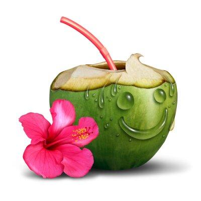 Adesivo Felice Concetto Cocktail tropicale