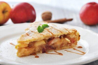 Adesivo Fetta di torta di mele fatta in casa