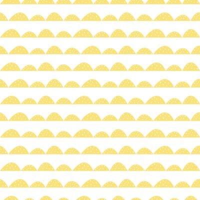 Adesivo filari di collina stilizzati. Motivo a onde semplice per il tessuto, tessile e biancheria per neonati.